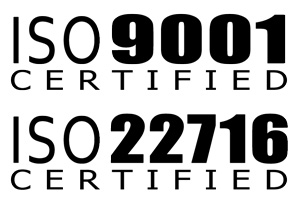 ISO 9001 + ISO 22716 Certified